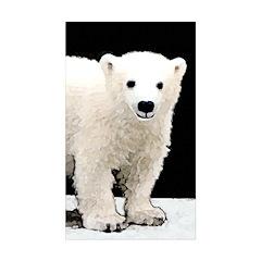 Polar Bear Cub Sticker (Rectangle 10 pk)
