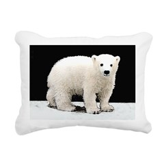 Polar Bear Cub Rectangular Canvas Pillow