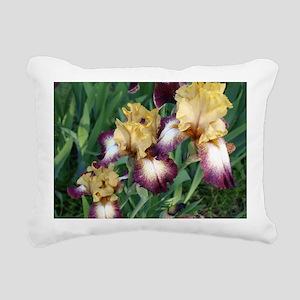 Gold and Purple Irises Rectangular Canvas Pillow
