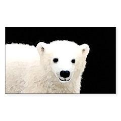 Polar Bear Cub Sticker (Rectangle)