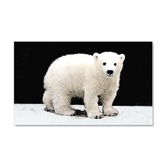 Polar Bear Cub Car Magnet 20 x 12