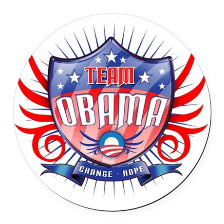 obama_shield_dark Round Car Magnet