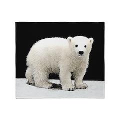Polar Bear Cub Throw Blanket