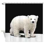 Polar Bear Cub Shower Curtain