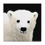 Polar Bear Cub Tile Coaster