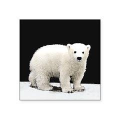 Polar Bear Cub Square Sticker 3