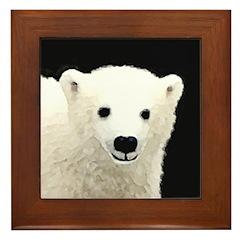 Polar Bear Cub Framed Tile