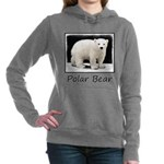 Polar Bear Cub Women's Hooded Sweatshirt