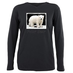 Polar Bear Cub Plus Size Long Sleeve Tee