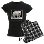 Polar Bear Cub Women's Dark Pajamas