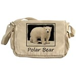 Polar Bear Cub Messenger Bag