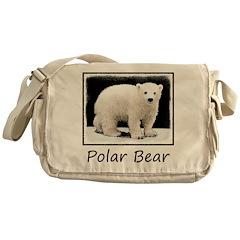 Polar Bear Cub Messenger Bag