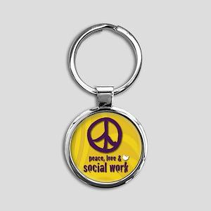 PeaceButton Round Keychain