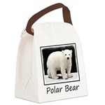 Polar Bear Cub Canvas Lunch Bag