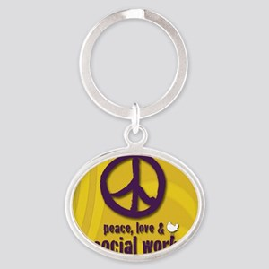 PeaceButton Oval Keychain
