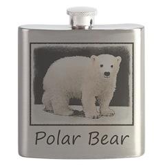 Polar Bear Cub Flask