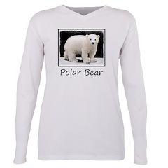 Polar Bear Cub Plus Size Long Sleeve Tee