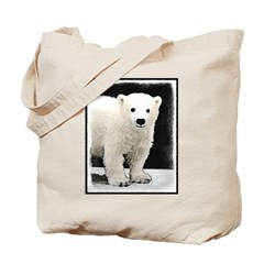 Polar Bear Cub Tote Bag