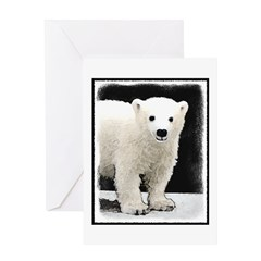 Polar Bear Cub Greeting Card