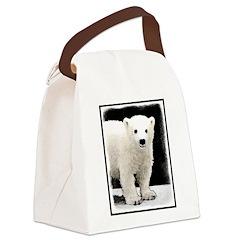 Polar Bear Cub Canvas Lunch Bag