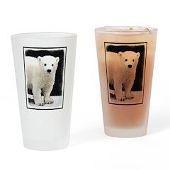 Polar Bear Cub Drinking Glass