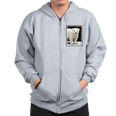 Polar Bear Cub Zip Hoodie