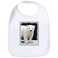 Polar Bear Cub Cotton Baby Bib