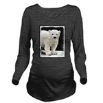 Polar Bear Cub Long Sleeve Maternity T-Shirt