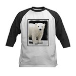 Polar Bear Cub Kids Baseball Tee