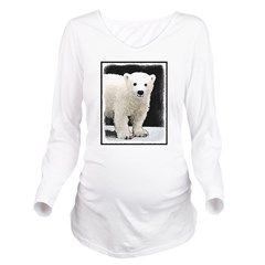 Polar Bear Cub Long Sleeve Maternity T-Shirt