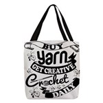 Crochet Mantra Polyester Tote Bag