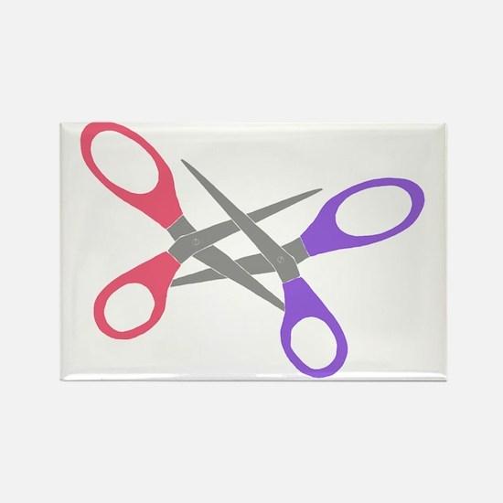 scissor-me Rectangle Magnet