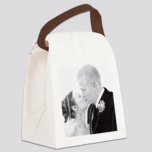 Kristin  Ken  kissing  cafepress Canvas Lunch Bag
