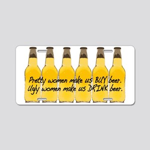 Pretty Women/Beer Aluminum License Plate