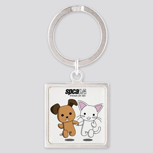 Friends for Life Square Keychain