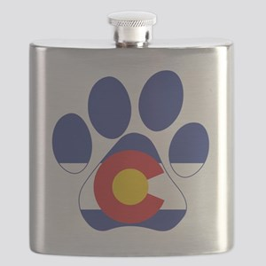 Colorado Paws Flask