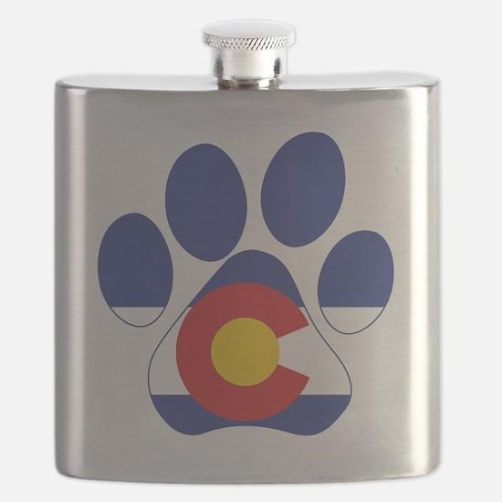 Colorado Paws Flask