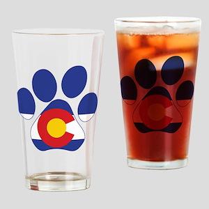 Colorado Paws Drinking Glass