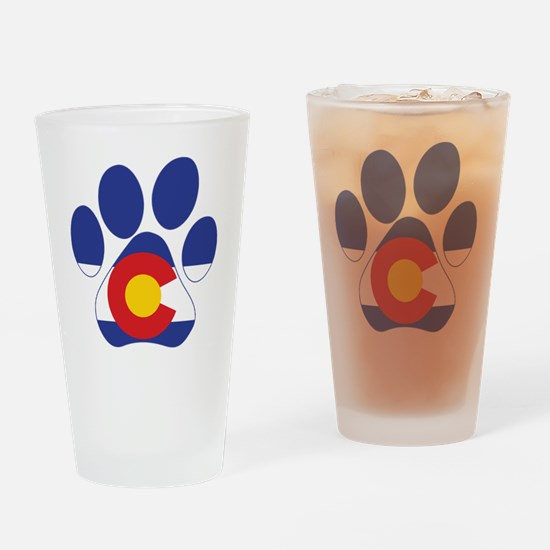 Colorado Paws Drinking Glass
