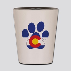 Colorado Paws Shot Glass