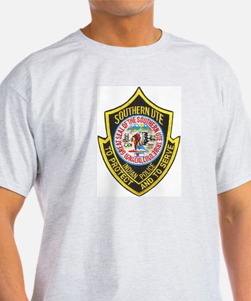 Southern Ute Police Ash Grey T-Shirt