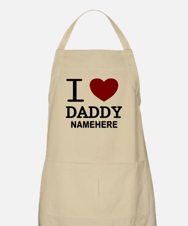 Personalized Name I Heart Daddy Apron