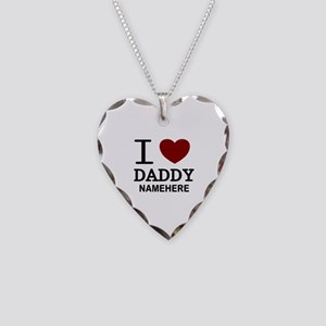 Personalized Name I Heart Daddy Necklace Heart Cha