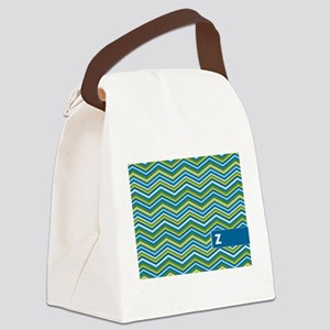 Add Monogram Chevrons Canvas Lunch Bag