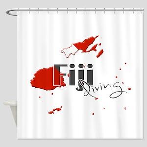 Fiji Diving Shower Curtain