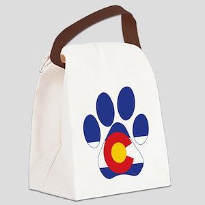 Colorado Paws Canvas Lunch Bag