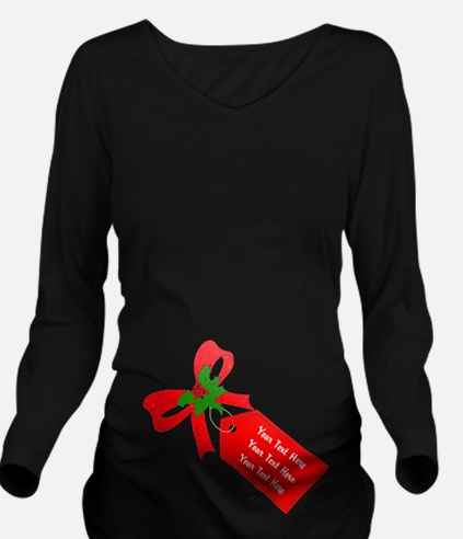 Personalize It Long Sleeve Maternity T-Shirt
