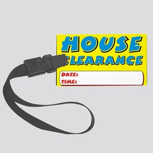 house clearance dt Large Luggage Tag