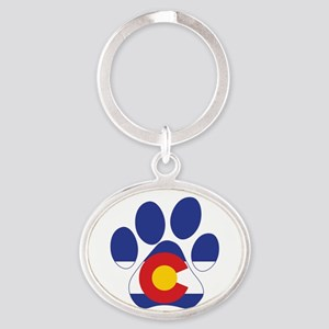 Colorado Paws Oval Keychain