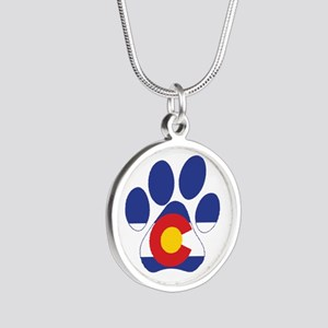 Colorado Paws Silver Round Necklace